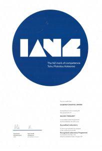 IANZ Certificate MPI Lab